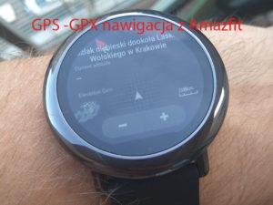 Zegarek Amazfit jako nawigacja podczas treningu i nie tylko.